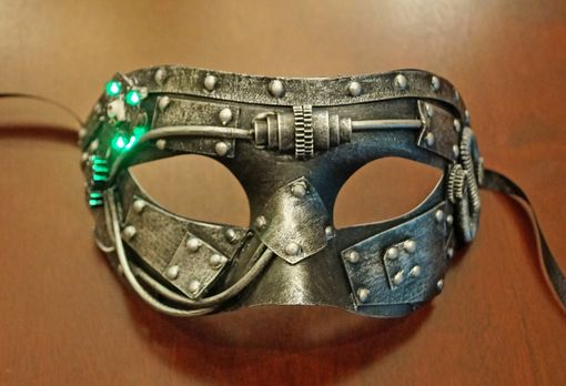 Industrial Steam Punk Eye Mask With Flashing Lights