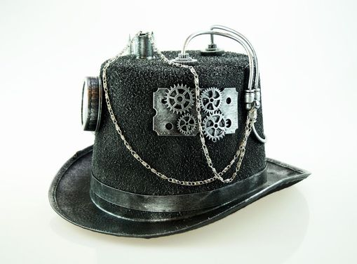 Industrial Steampunk Hat Silver