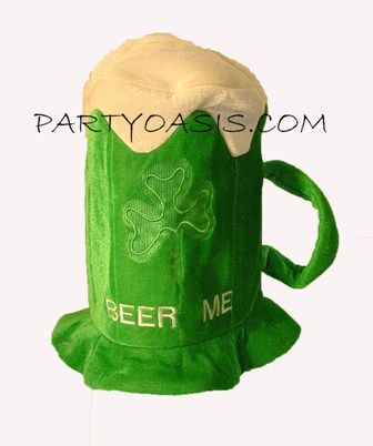 Irish Beer Hat from PartyOasis.com St. Patrick's Day Favorite