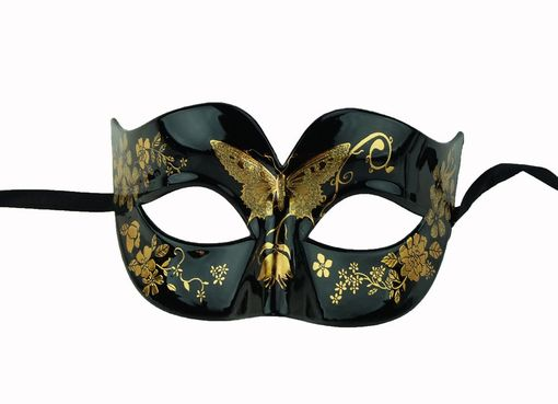 Jade Butterfly Gold Masquerade Mask
