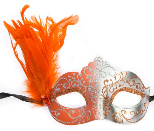 Julianna Feather Eye Mask Orange