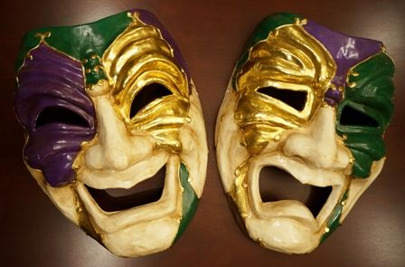 Jumbo Comedy And Tragedy Mardi Gras Mask