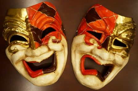 Jumbo Comedy And Tragedy Mask Set