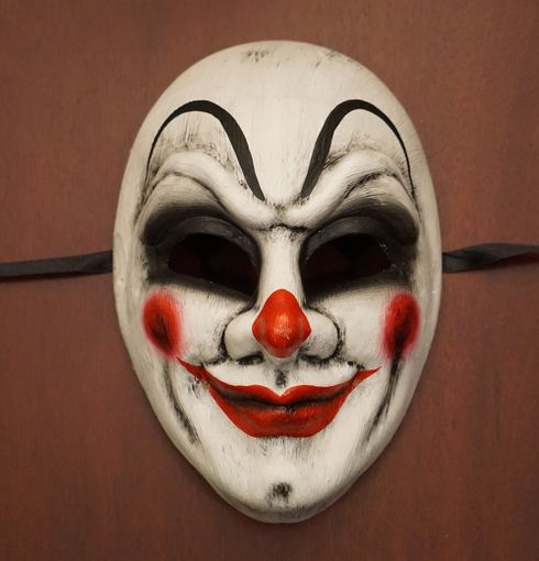 Killer Clown Mask Halloween Joker Purge Mask