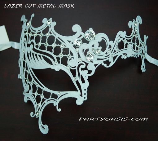Kristine Lazer Cut Metal Masquerade Eye Mask