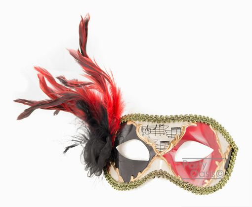 Kyros Feather Masquerade Eye Mask With Feathers
