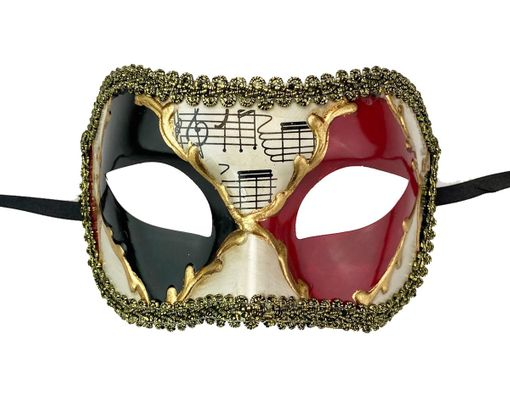 Kyros Men's Venetian Party Mask Red And Black