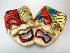 large Wall Masks Comedy And Tragedy Masquerade Mardi Gras Masks