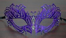 Laser Cut Metal Butterfly Mask