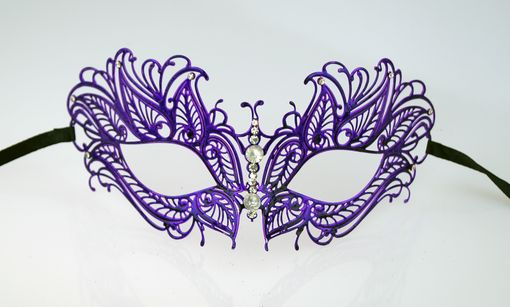 Laser Cut Metal Butterfly Masquerade Mask