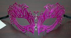 Lazer Cut Butterfly Metal Mask Pink