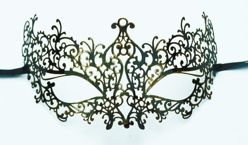 Lazer Cut Venetian Mask Gold