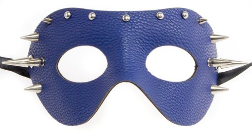 Leather Spike Mask Blue