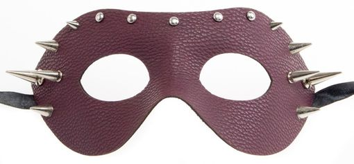 Leather Spike Mask Dark Brown