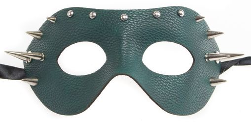 Leather Spike Mask Green