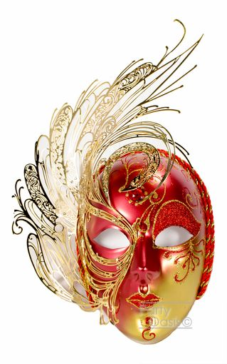 Libra Metal Mask Red Masquerade