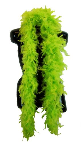 Lime Green Feather Boa 6ft, 70gram