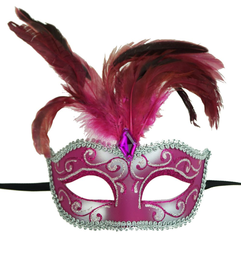 Luscious Feather Eye Mask Pink
