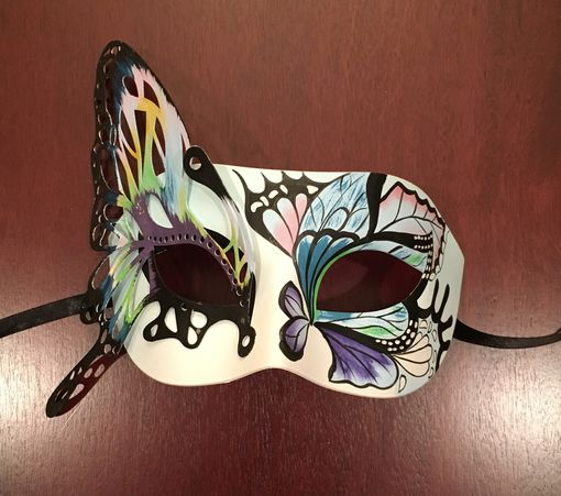 Luxe Butterfly Masquerade Mask Blue