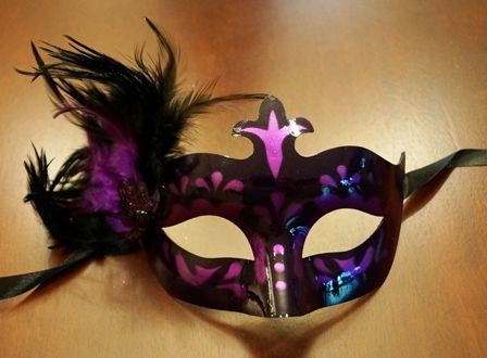 Maaquerade Feather Masquerade Eye Mask Purple With Feathers