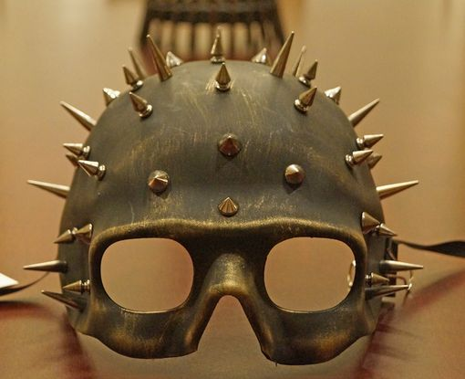 Mad Maxx Gold Mask Helmet