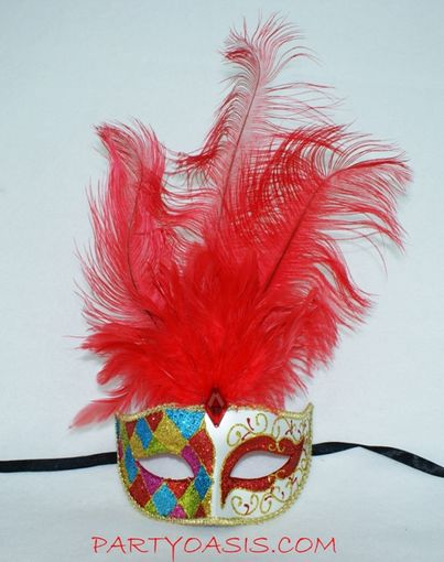 Madri Gras Feather Mask