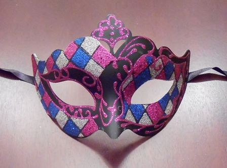 Magenta and Blue Venetian Mask