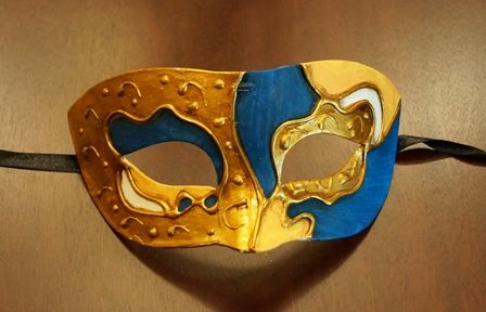 Blue Mardi Gras Masquerade Eye Mask