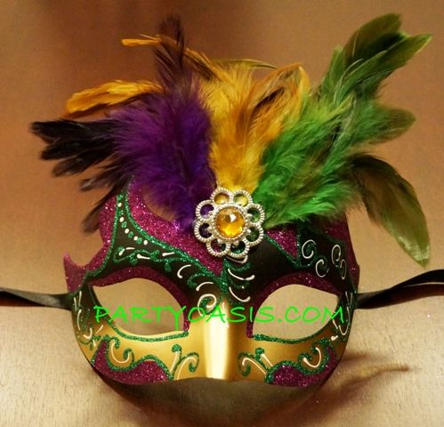 Mardi Gras Feather Eye Mask