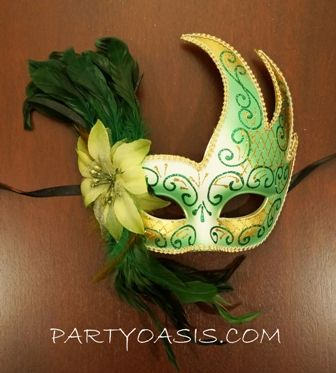 Mardi Gras Feather Luna Eye Mask