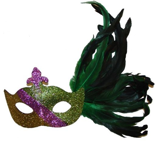Mardi gras glitter eye mask