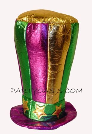 Mardi Gras Jumbo Top Hat