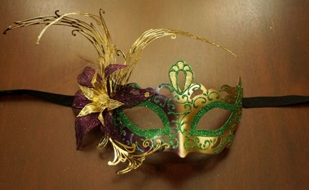Mardi Gras Lazer Cut Eye Mask
