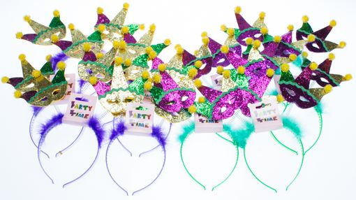 Mardi Gras Mask Headband Party Pack