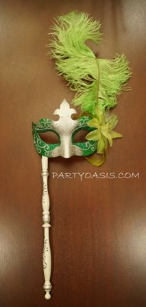 Mardi Gras Stick Mask