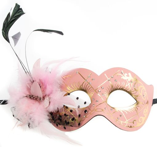 Mariposa Feather Masquerade Eye Mask Pink