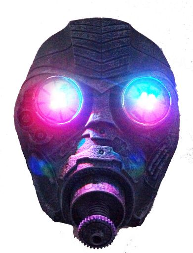 Space Gas Mask Respirator With LED Flashing Lights