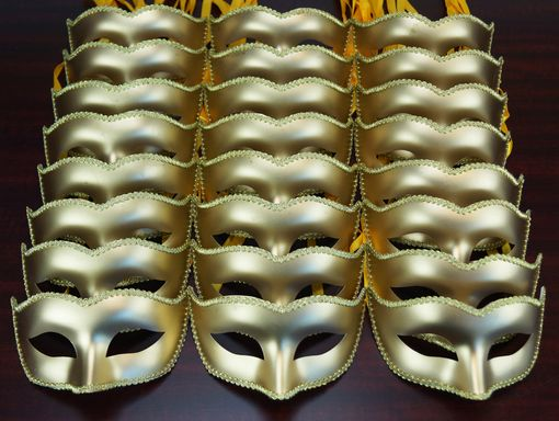 Bulk Masquerade Ball Mask Party Pack Gold