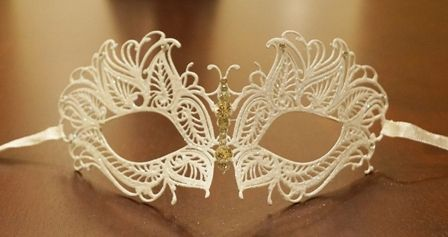 White Masquerade Butterfly Masquerade Eye Mask