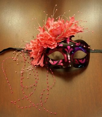 Masquerade Eye Mask Pink