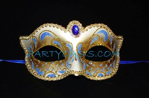 Blue Masquerade Eye Mask