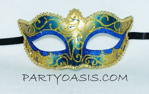 Blue And Gold Masquerade Ball Mask Venetian Party Mask
