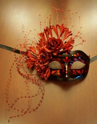 Masquerade Eye Mask Red Burgundy