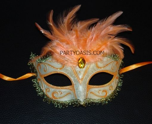 Masquerade Eye Mask with Feather