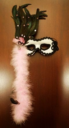 Masquerade Feathers Eye Mask 80504