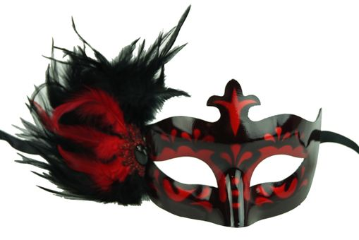 Masquerade Feathers Eye Mask In Red