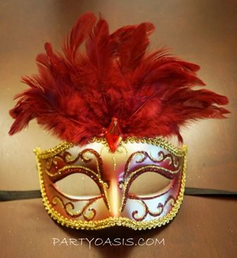 Masquerade Feather Mask