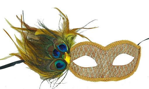 Masquerade Glitter Feather Eye Mask