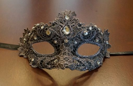 Masquerade Grey Lace Mask