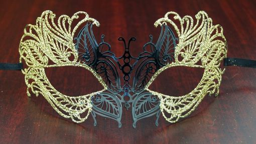 Masquerade Lazer Cut Metal Masquerade Eye Mask Gold